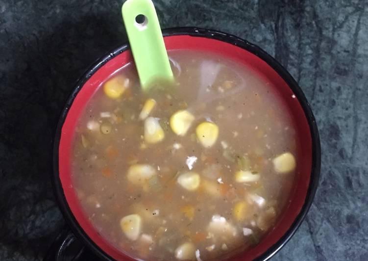 Mix vegetables soup