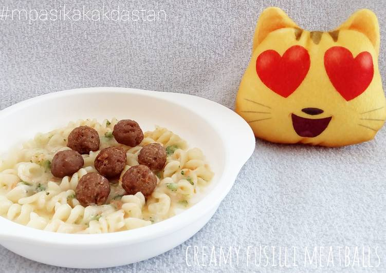 Creamy Fusilli Meatballs - MPASI