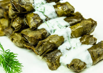 How to Cook Delicious Stuffed beef in grape leaves Armenian Dolma Recipe