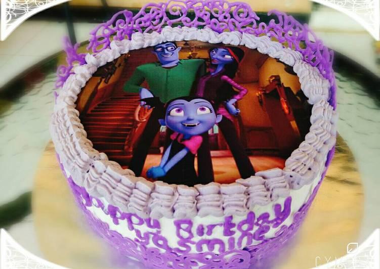 Purple Birthday Cake - cookandrecipe.com