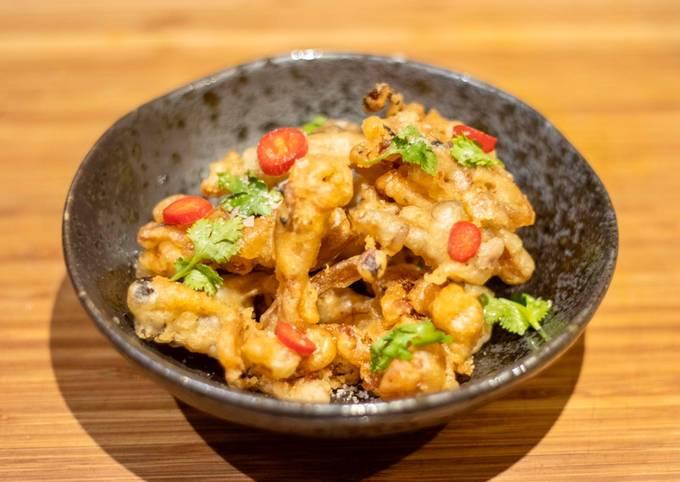 Salt and chilli crispy mushrooms