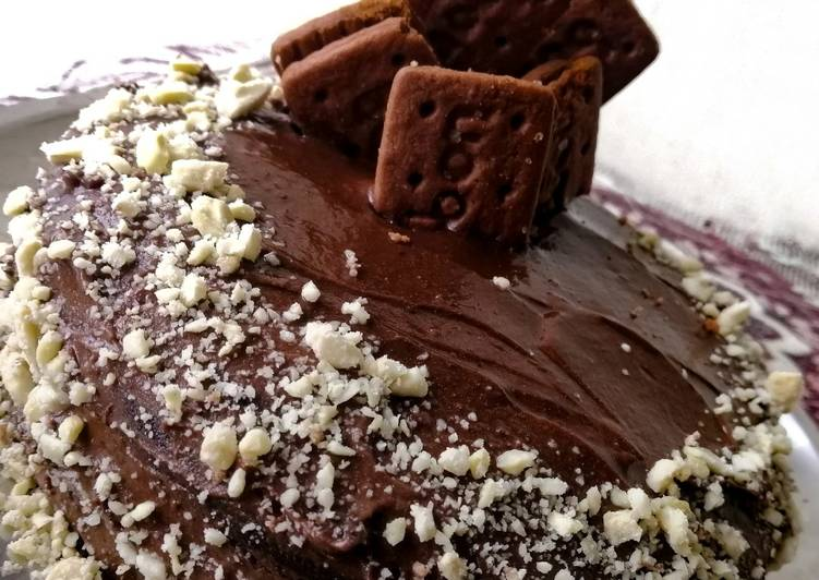 How to Prepare Tasty No oven Bourbon Biscuit cake?