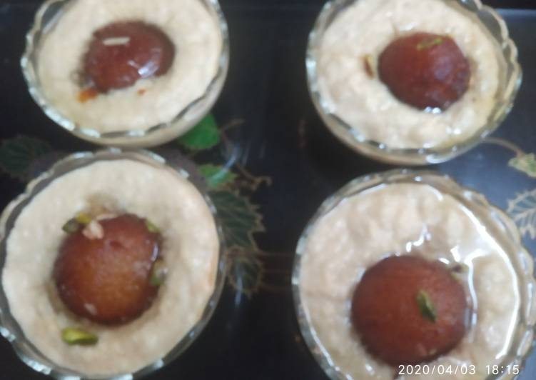 Gulab jamun in instant rabdi - Laurie G Edwards