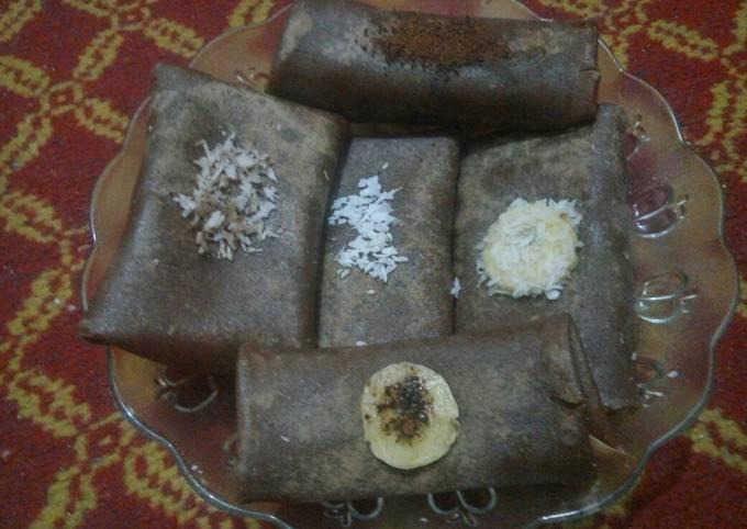Cara Mudah Membuat Dadar gulung coklat kelapa Anti Gagal