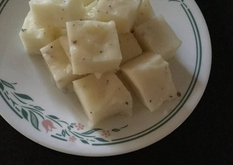 Pala Billalu (Milk with arrowroot powder Barfi) - Laurie G Edwards