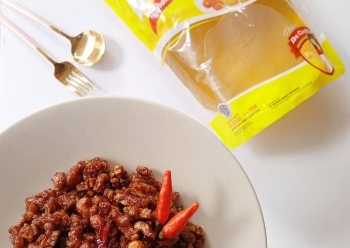 sambal goreng tempe kacang - resepenakbgt.com