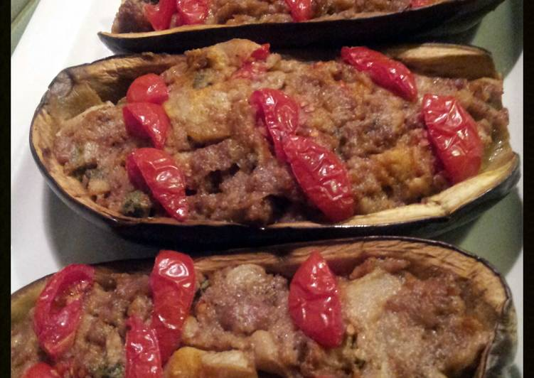 AMIEs Eggplants Stuffed with Sausage