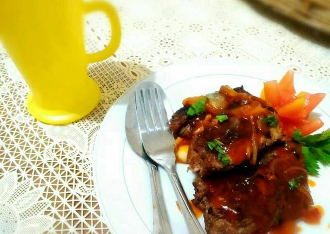 Steak sapi saus barbeque