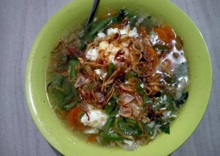 Sup buncis telur