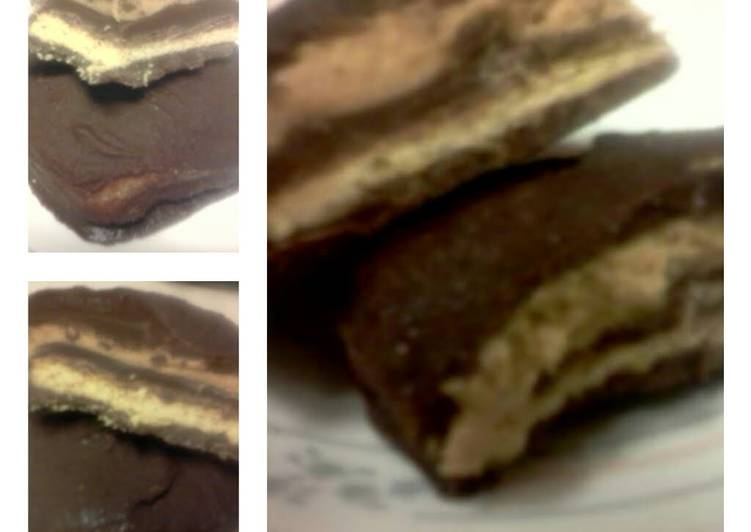 Chocolate peanutbutter graham cracker sandwiches.../ like the ones at Disney World