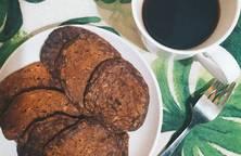 Bánh yến mạch chuối hạt óc chó cacao