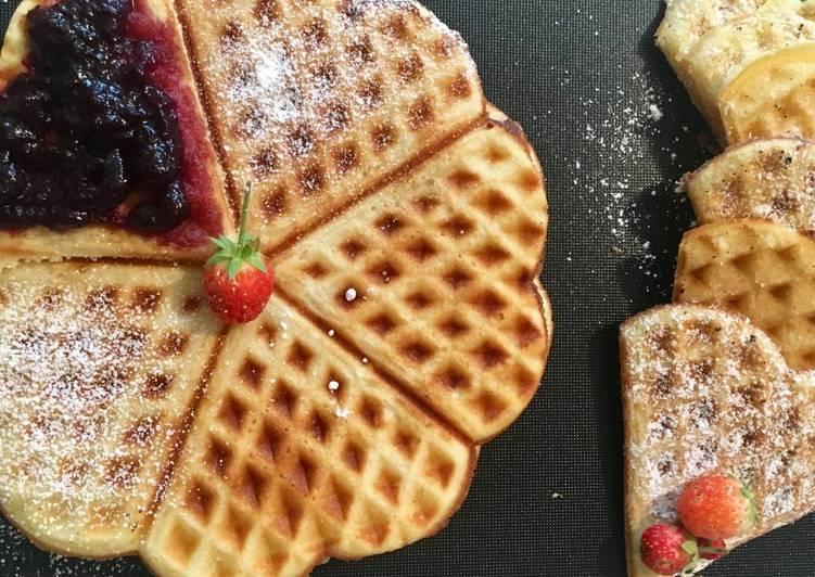 Ricetta Cuori di waffles in piastra