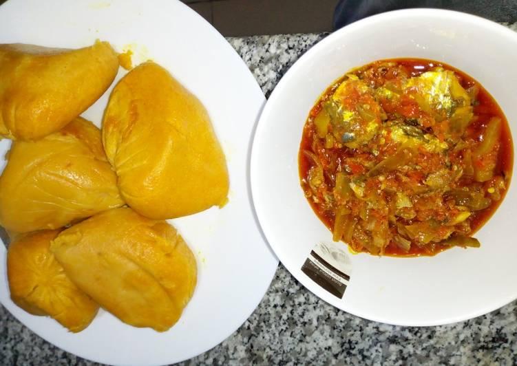 Recipe of Homemade Moimoi with sardine sauce