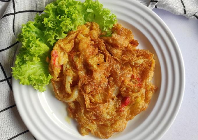 Telur Dadar Crispy Ala Thai