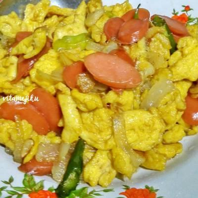 Resep 1 Orak Arik Telur Sosis Bikinramadanberkesan Oleh Vita Suwardjono Cookpad