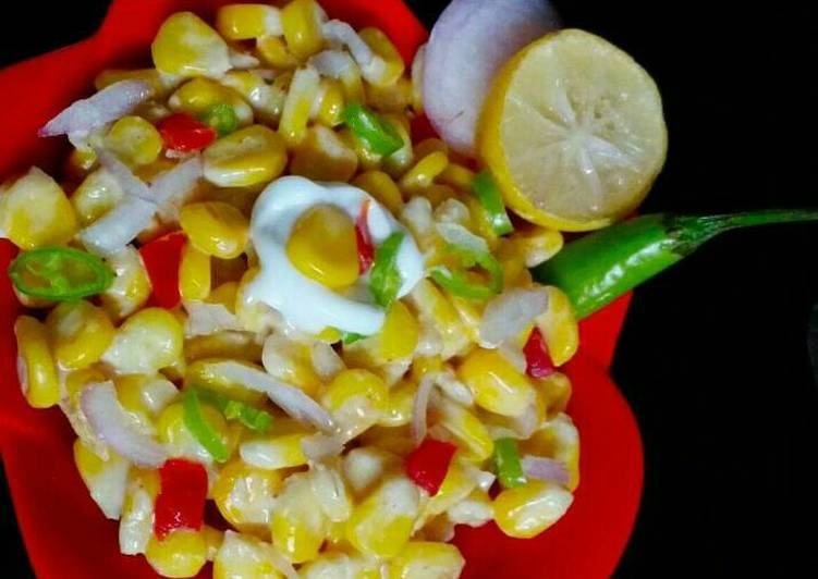 Easiest Way to Make Perfect Spicy creamy sweet corn salad