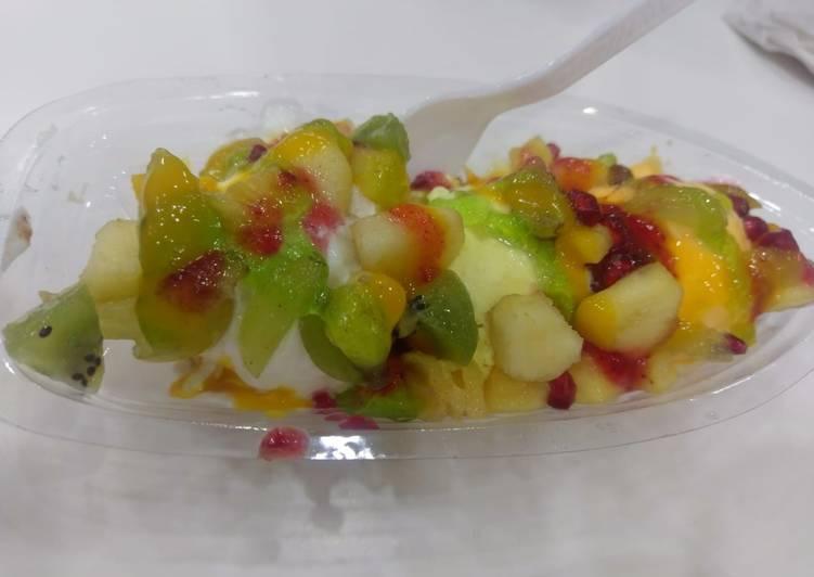Icecream Fruit Boat