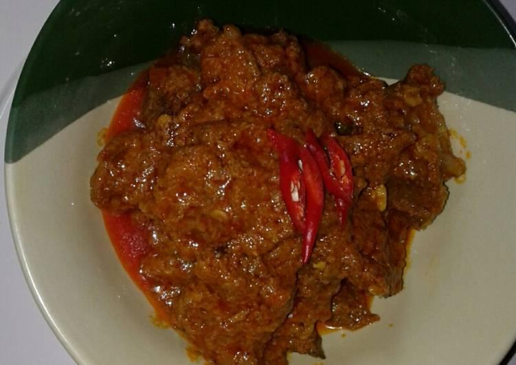 Rendang daging sapi (presto)