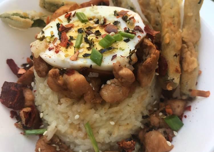 Nasi Tim Ayam (Rice Cooker)