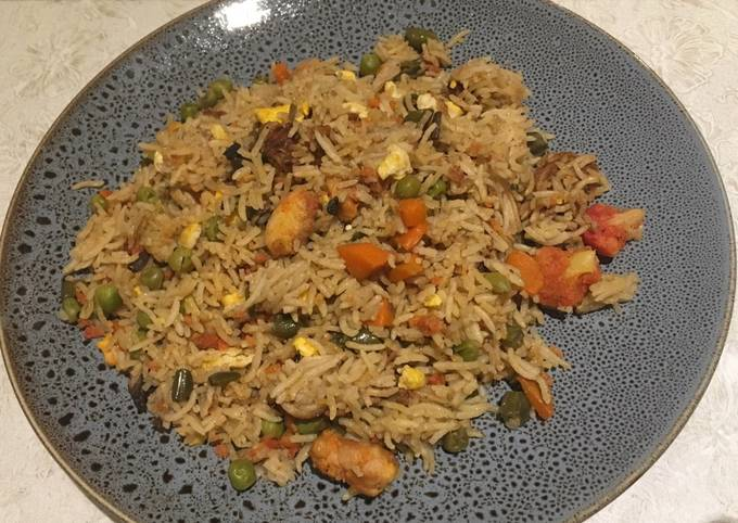 Assorted pulao ! An easy healthy quick tasty lunch!