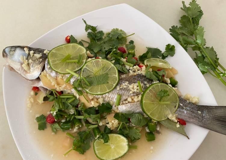 Ikan kukus ala Thailand  Thai Steam Fish