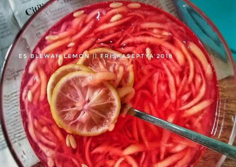 Resep Es Blewah Lemon Simple Segar Bikinramadhanberkesan Nikmat