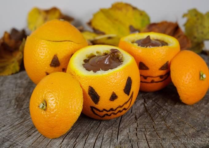 Danette au chocolat d'Halloween