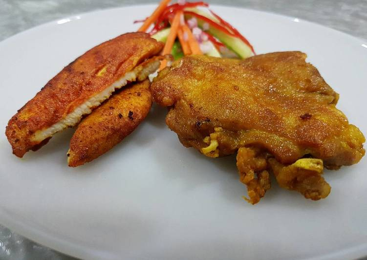 Simple Way to Make Award-winning Student Meal- Turmeric Fried Chicken (Ayam Goreng Kunyit)