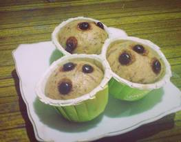 Steam Banana Cup Cake (Cup Cake Pisang Kukus)