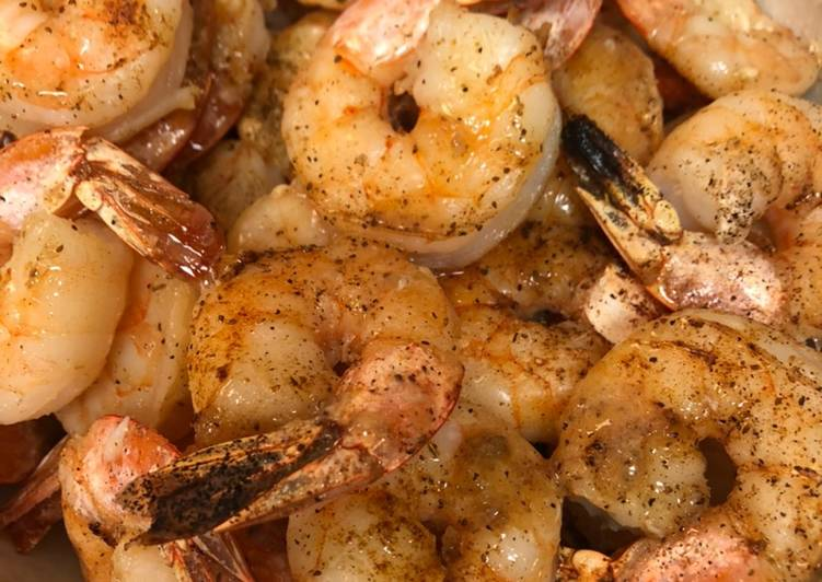 Broiled Garlic Jumbo Shrimp 🍤 with Sweet Heat Cocktail Sauce