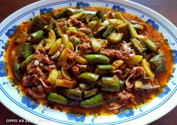 Resep Rahasia Sambel Goreng Cumi Terong Hijau Campur Jengkol Enak Banget Resep Masakanku