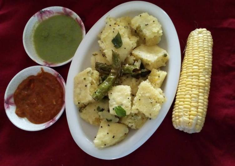 Step-by-Step Guide to Prepare Super Quick Homemade Corn dhokla