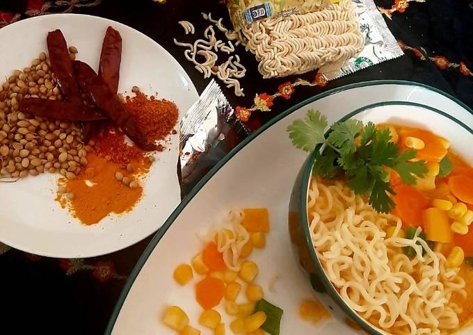 Step-by-Step Guide to Make Favorite Maggi vegan laksa soup