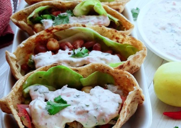 Pita Bread Chick Pea Kidney Bean Filling With Tzatziki Sauce Recipe By Pv Iyer Cookpad