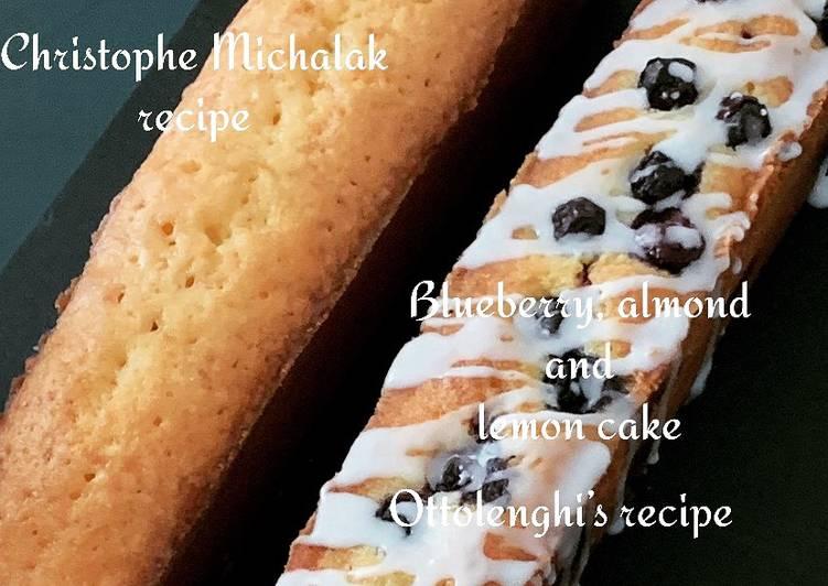 Cake aux myrtilles, amandes et citron  @4PassionFood