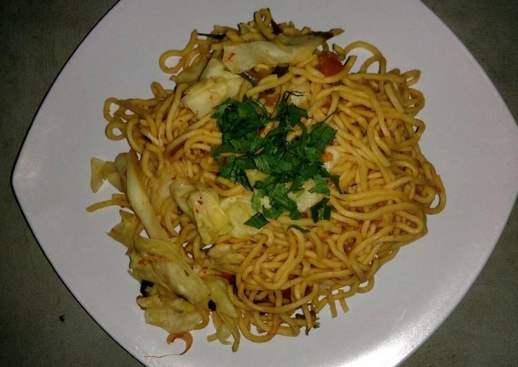 Resep Mie goreng rendah lemak Paling Gampang