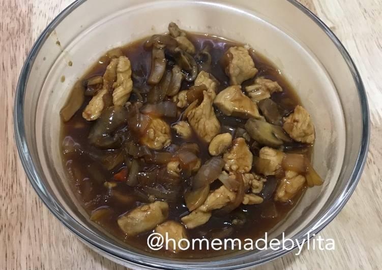 Ayam cah jamur kilat kuah saus tiram #homemadebylita