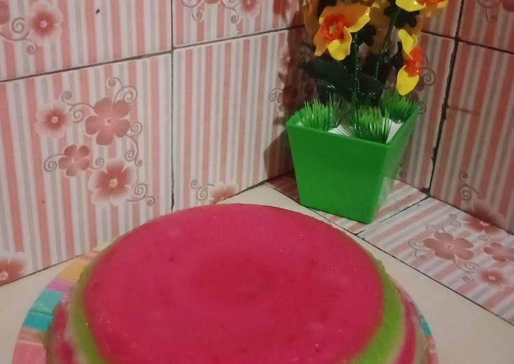 Cara Bikin 3.Kue lapis tepung tapioka dan tepung terigu Mudah
