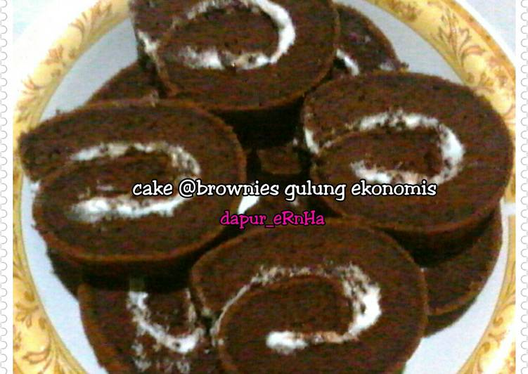 Brownies gulung ekonomis