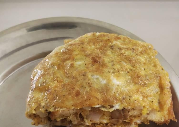 How to Prepare Perfect Bread mushroom omelette