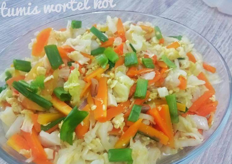 Resep Tumis Wortel Kol Telur Oleh Xoxo S Kitchen Cookpad