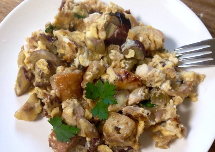 Recipe of Super Quick Homemade Thanksgiving Leftovers Breakfast Scramble