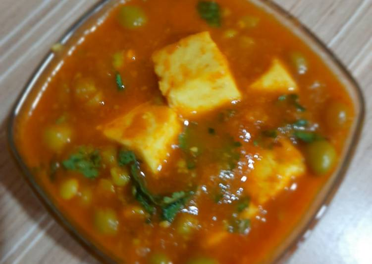 Recipe of Favorite Matar Paneer