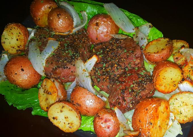 Mike's Black Pepper Bison & Garlic Russets On Sea Salt Bricks