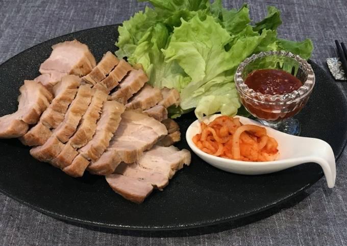 Recipe of Bossam (Korean pork wrap) Step by Step