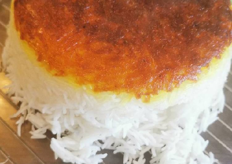 Recipe of Ultimate Persian rice with crispy grated potato TAHDIG