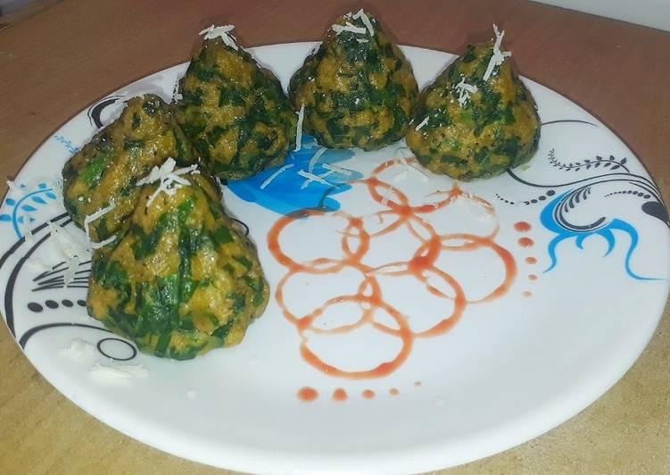 Mayonnaise Palak Dumplings modak