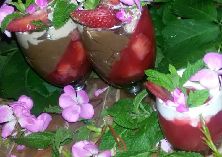 La créme au chocolat à la fraise