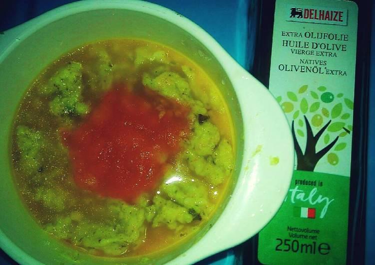 MpAsi 8bulan Bubur bayam steam ikan marlin saus tomat