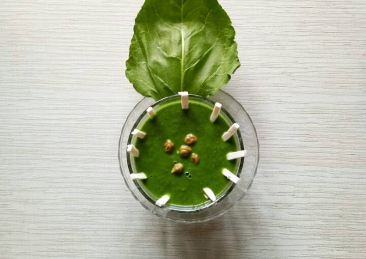 Green chane and Spinach soup